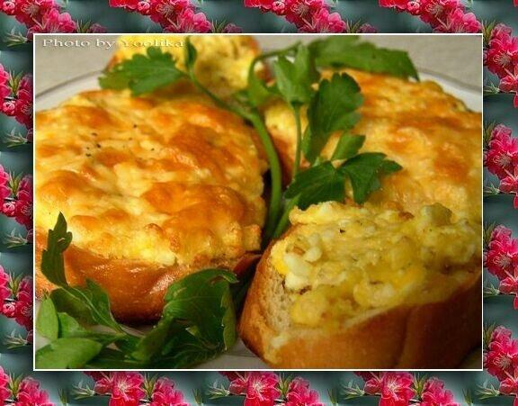 Рецепта Бутерброды Пикантные. Ингредиенты для. Хлеб пшеничный