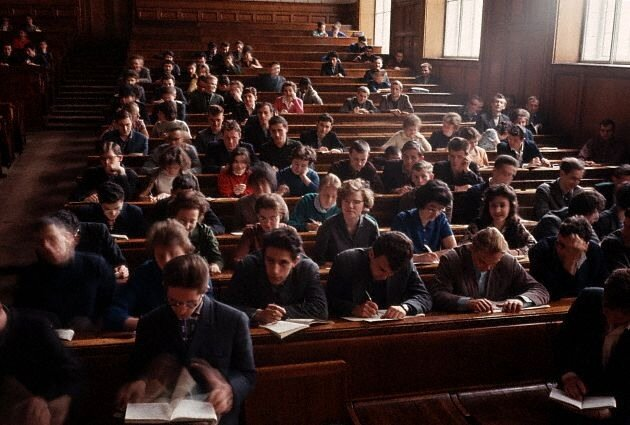 Students in a Lecture Hall at Moscow University