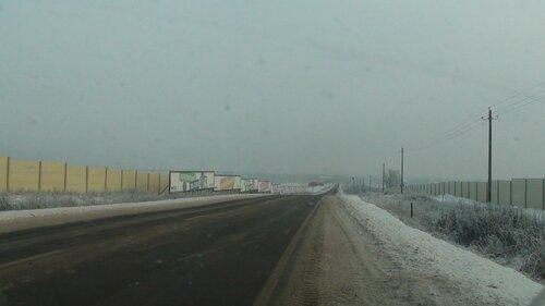 Вид от КПП Новорижского в сторону деревни Покровское