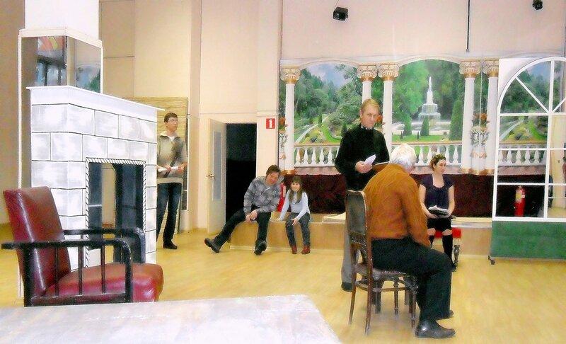 Театр, репетиция, актёры