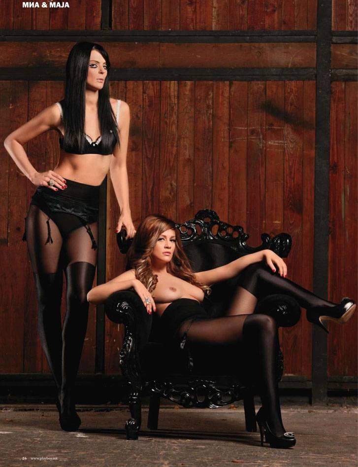 сексуальные девушки Миа Костова и Майя Ангеловска / Mia Kostova and Maja Angelovska
