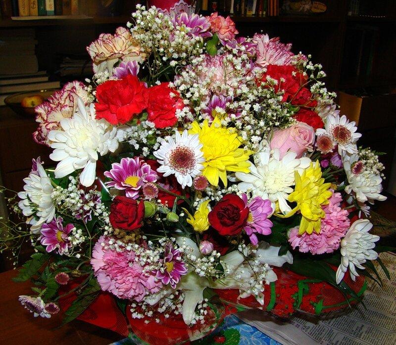 Красивые букеты цветов в домашних условиях 266