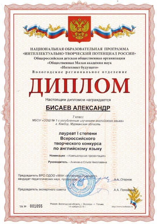 Конкурс творческий потенциал россии