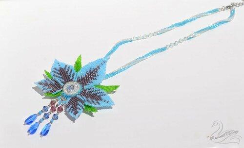 Альбом пользователя Юленька_Лебедь: Голубой цветок со сваровски2.JPG