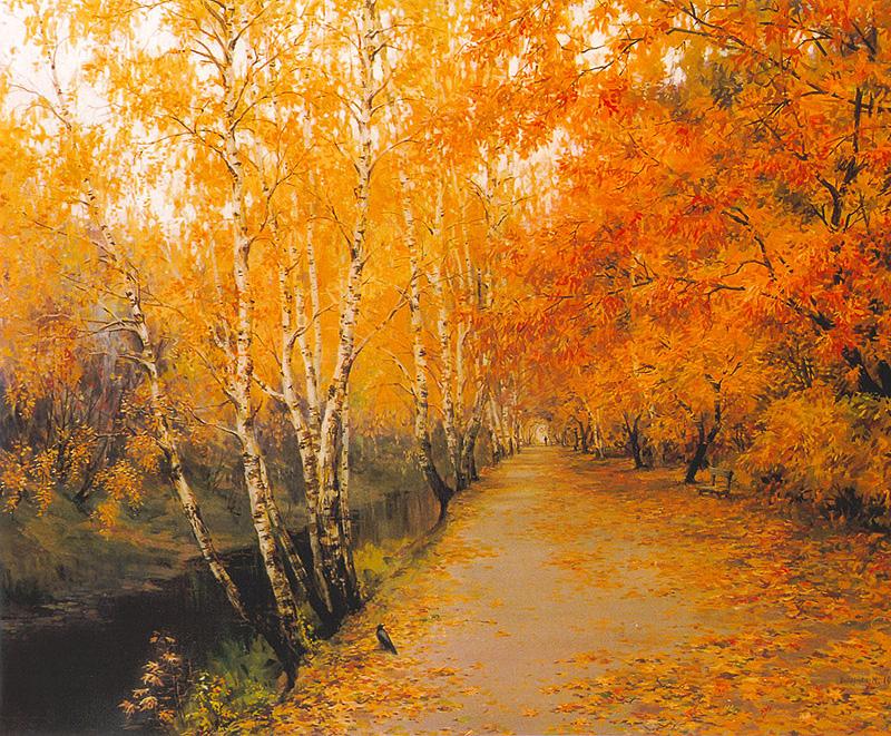 Печаль осенняя светла - живопись - художник Мария Вишняк.jpg