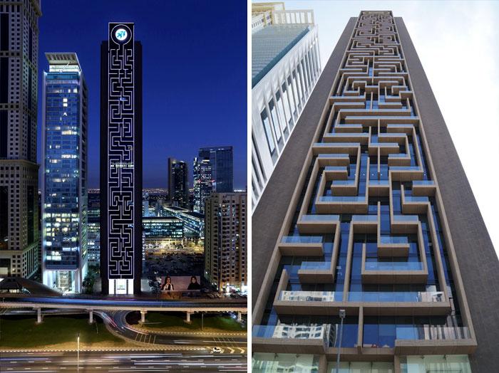 Небоскреб Maze Tower в Дубае.