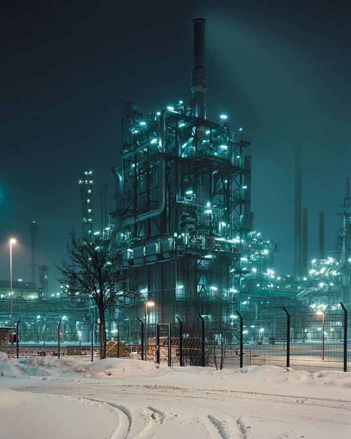Нефтеперерабатывающая станция OMV Borealis на германо-австрийской границе.
