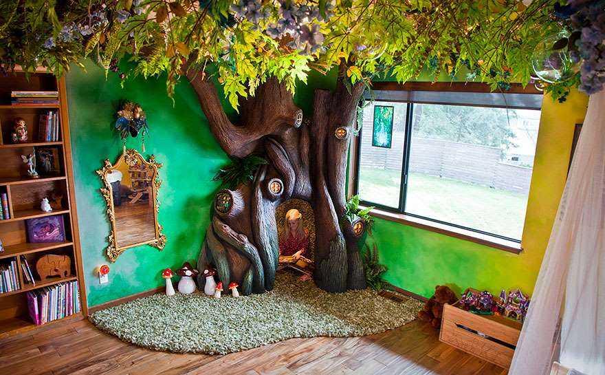 1. «Моя дочь хотела иметь волшебное дерево в своей комнате, чтобы она могла сидеть внутри и читать к