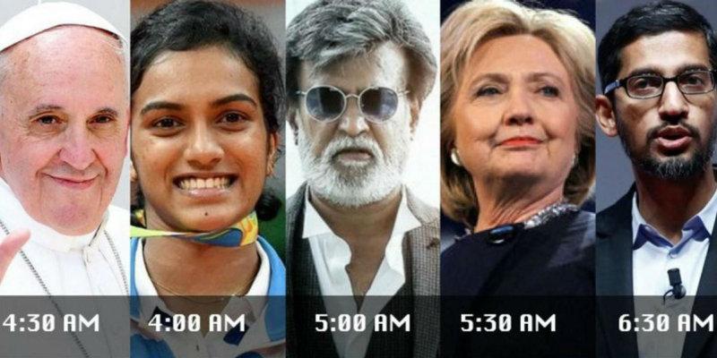 Если изучить распорядок дня успешных людей, от знаменитостей до политических лидеров, от спортсменов