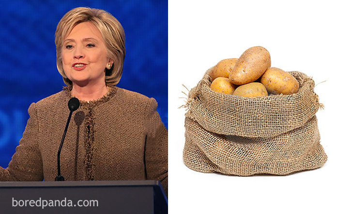 Хиллари Клинтон или мешок с картошкой?