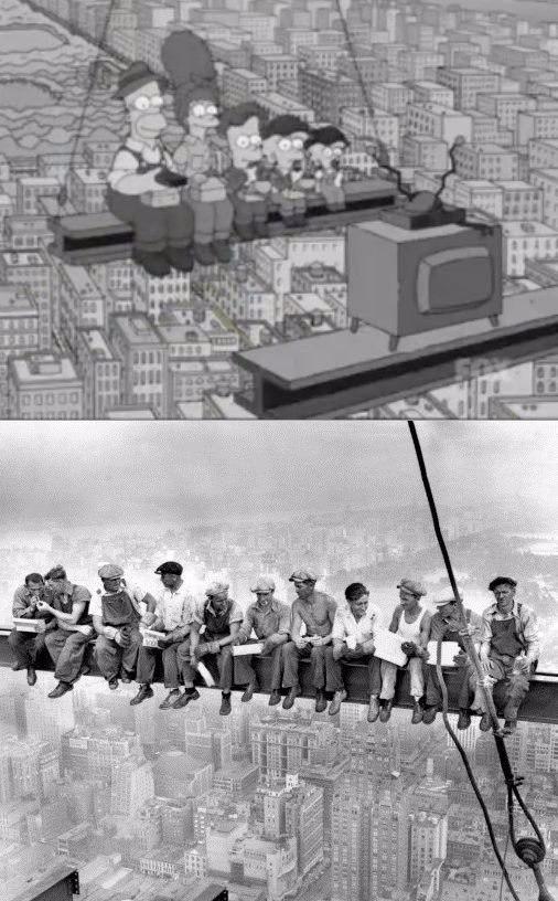 Легендарное фото, на котором запечатлены строители на Empire State Building во время обеденного пере