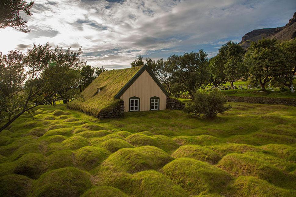 Скандинавские домики с заросшей крышей, в которых хочется поселиться немедленно (30 фото)