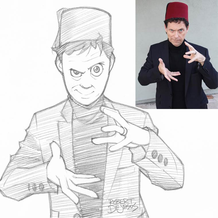 Un illustrateur s'amuse a dessiner le portrait des gens version manga