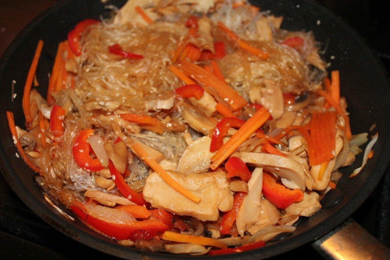 Рецепт фунчозы с овощами пошаговый рецепт