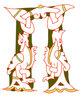 Буквица П (покой), 13 век