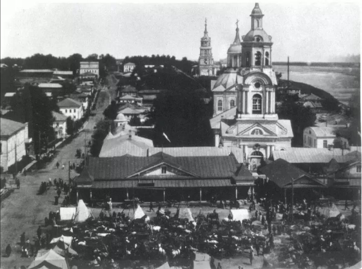 Базарная площадь и Спасо-Орловский монастырь