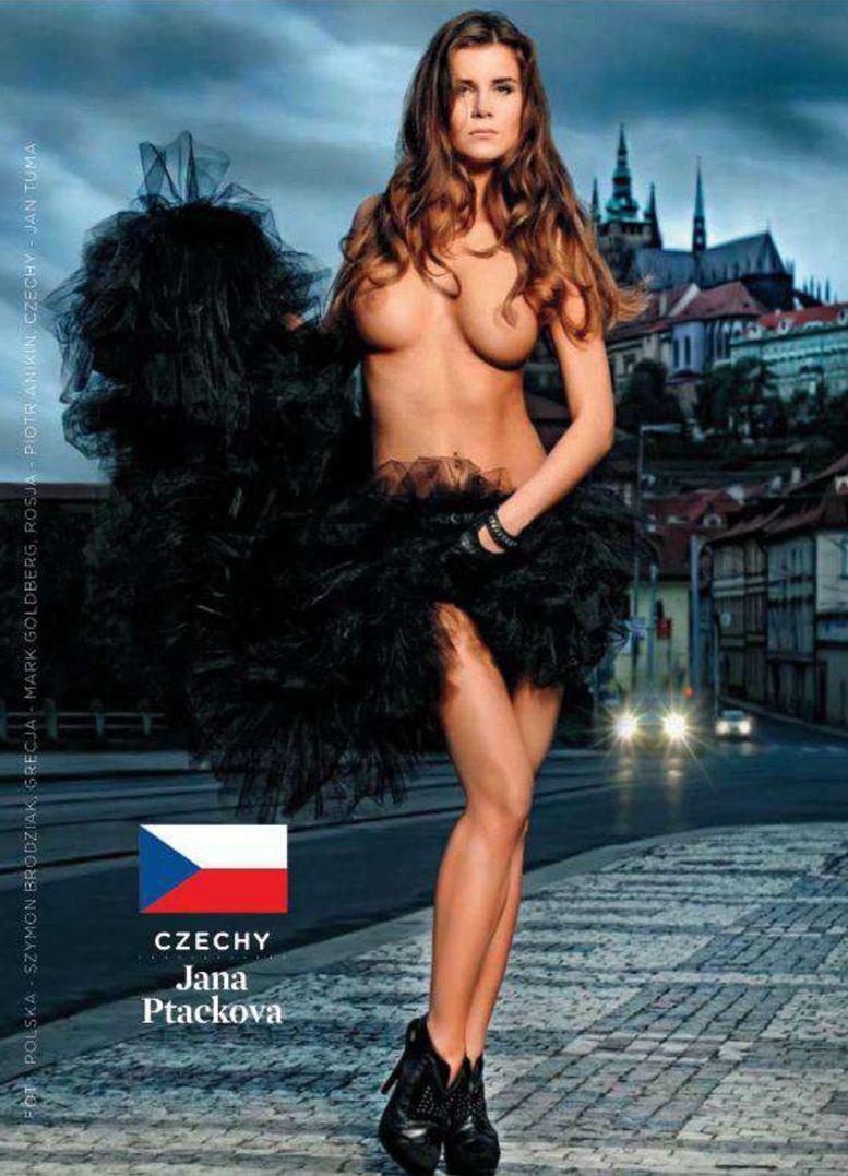 Страны-участницы Евро-2012 в журнале Playboy представляют его модели - Jana Ptackova - Чехия / Плейбой Польша, июнь 2012
