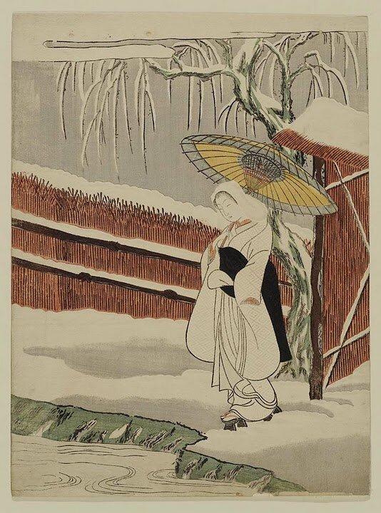 Харунобу обогатил гравюру, используя разнообразные тона красок, сумел расширить круг ее тематики, а так же сделал...