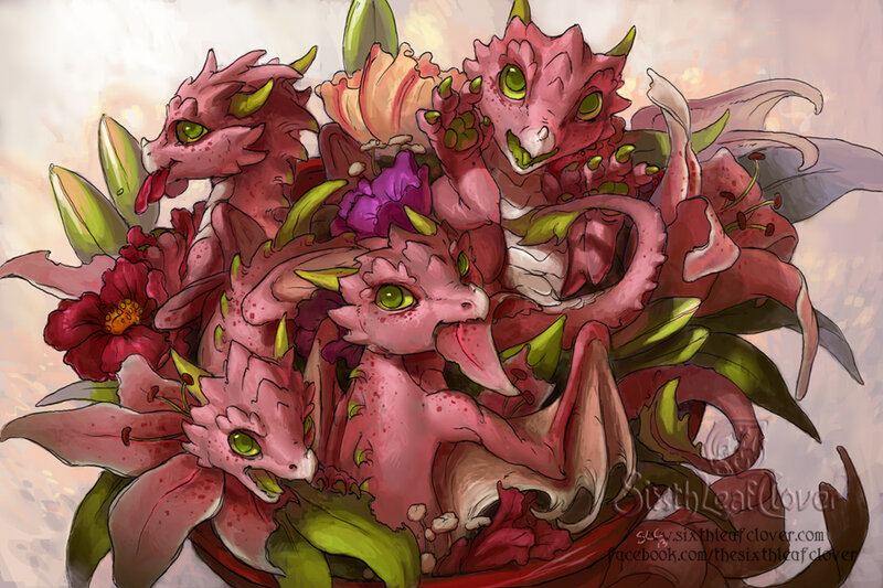 flower_dragon_bouquet_by_the_sixthleafclover-d5u50hy.jpg