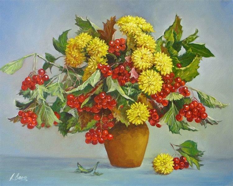Александр Воля. Букет с ягодами.jpg