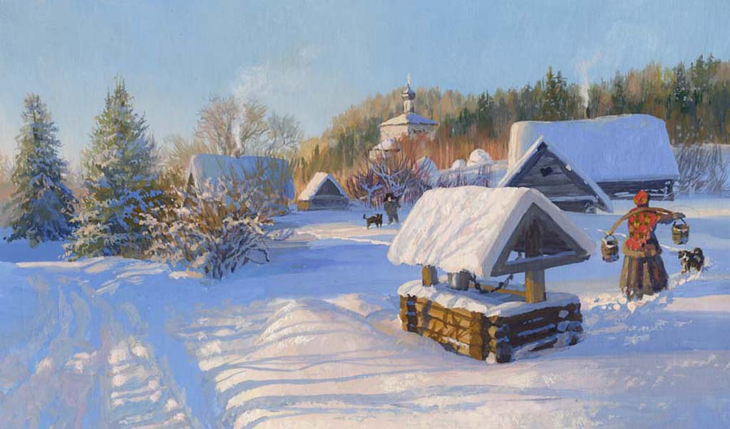 картинки с русской зимой на рабочий стол