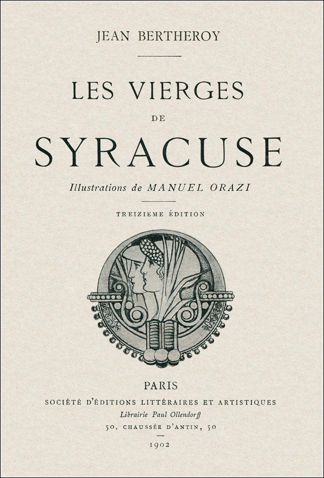Manuel Orazi, Les vierges de Syracuse