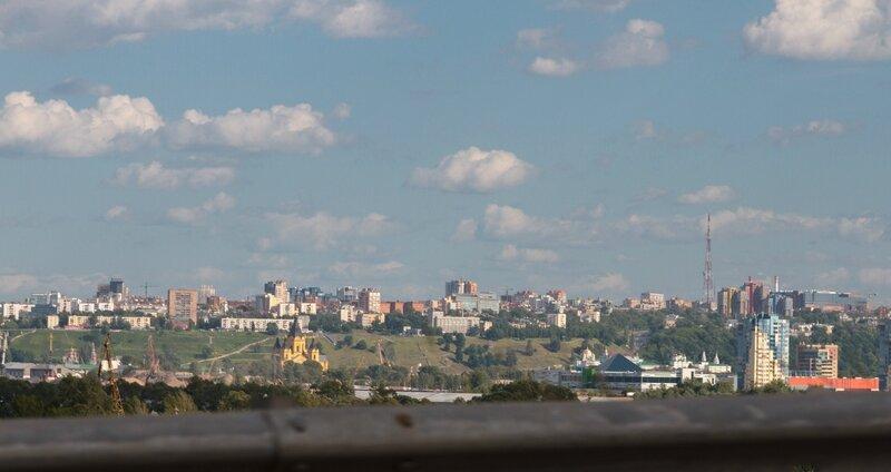 Мост через Волгу, панорама Нижнего Новгорода