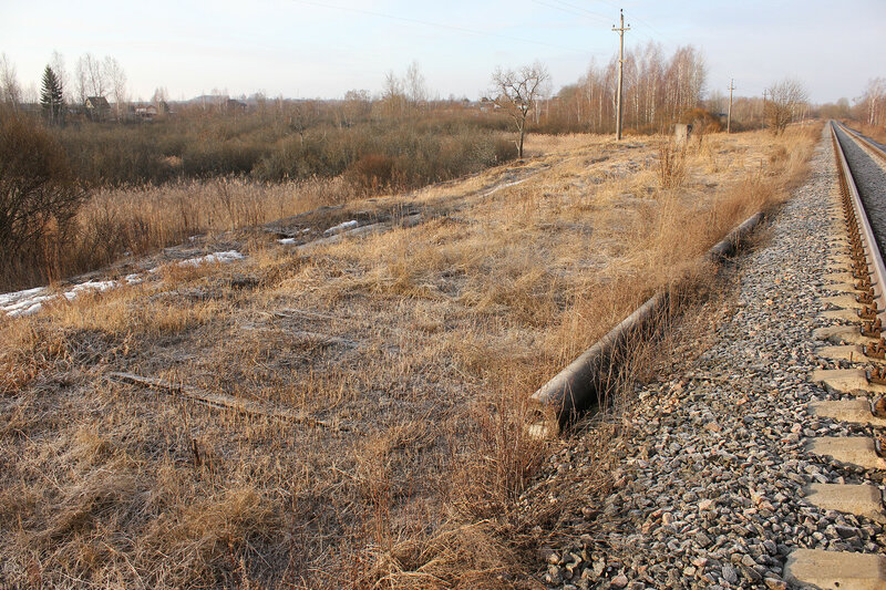 Остатки шпал на экс-станции Забойники