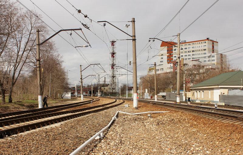 Восточная горловина станции Тушино