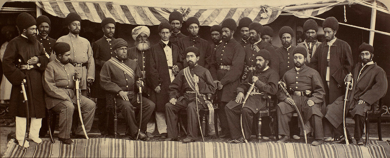 Эмир Мухаммад Якуб-хан и его приближенные. 1879