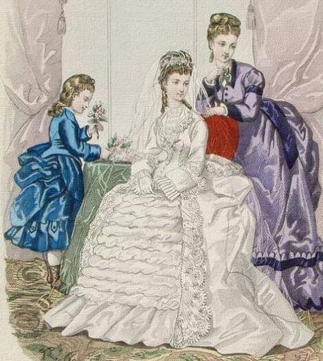Французские свадебные платья 1840-1860 х годов