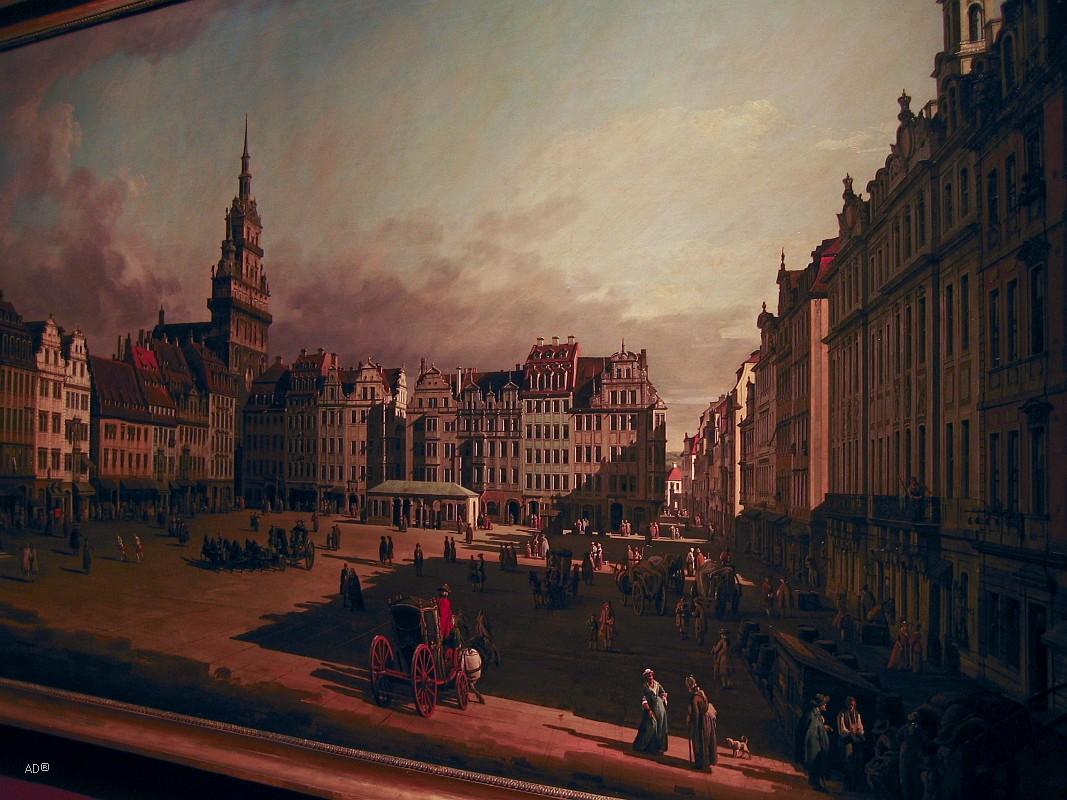Бернардо Беллотто. «Вид Старого рынка в Дрездене»