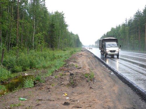 Рябовское шоссе в сторону Всеволожска