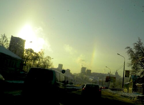 Солнце и радуга- 4 января 2011*