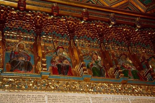 сеговия, испания, алькасар в сеговии, отделка потолка
