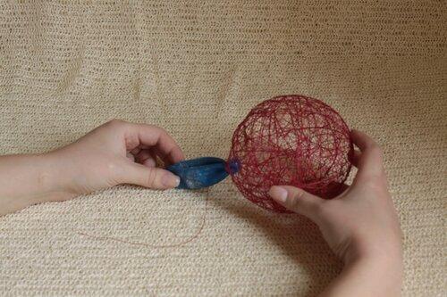 мк шары из ниток