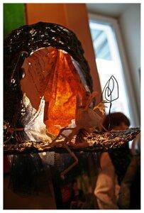 хендмейд-лампа в кофейне
