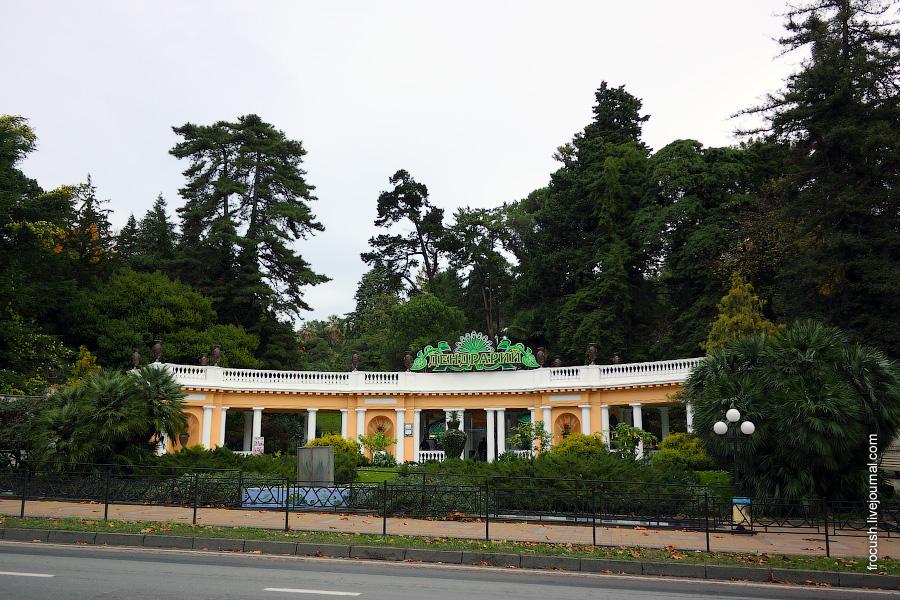 Центральный вход в парк «Дендрарий» – «Ротонда»