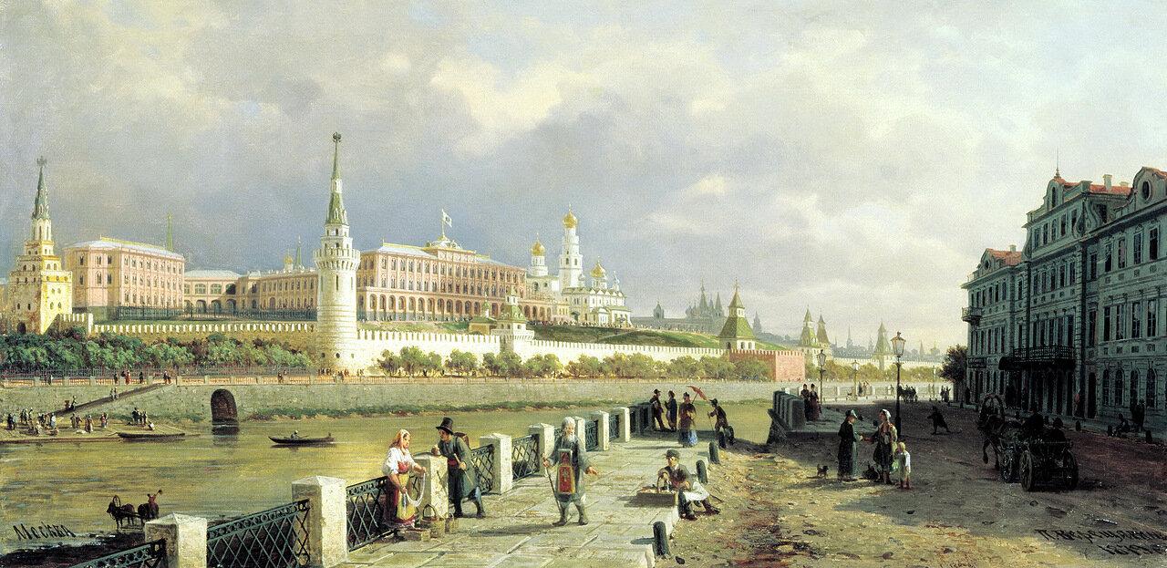 Пётр ВЕРЕЩАГИН - Вид Московского кремля