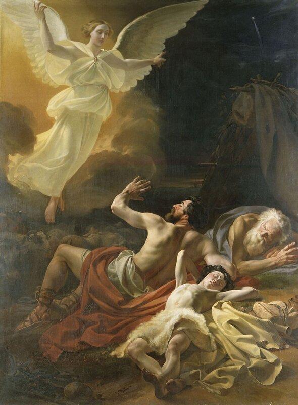 Явление ангела пастухам. 1839. Петровский Петр Степанович.