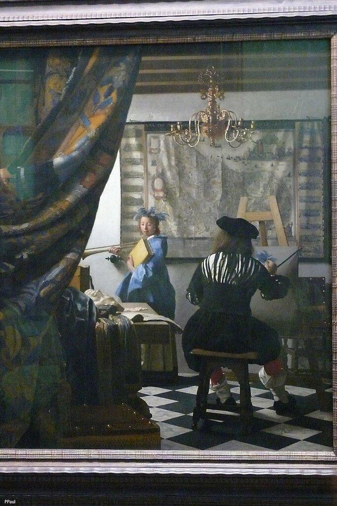 """Ян Вермеер Дельфтский """"Художник в мастерской (Аллегория живописи). """"1665 -66"""