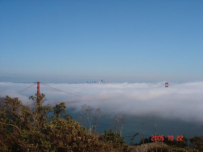 Сан-Франциско. Почему огромное облако решило спуститься с небес??