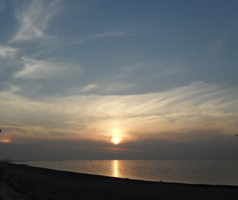Развитие морского заката, Азовское море, ноябрь 2010