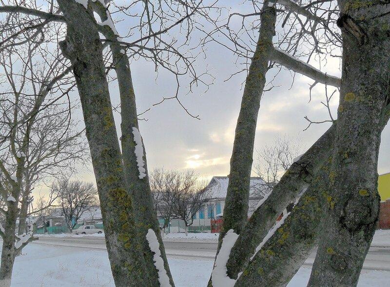 Закат зимой...