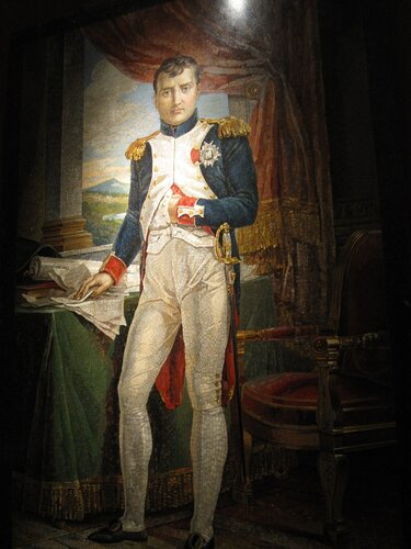 the emperor napoleon in his study at the tuileries by jacques louis david