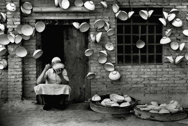 by Hei Ming, iron rice bowl ,2000