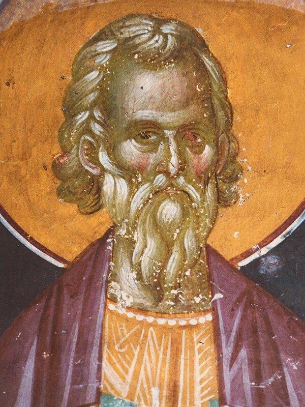 Святой мученик Арефа. Фреска монастыря Грачаница, Косово, Сербия. Около 1320 года.