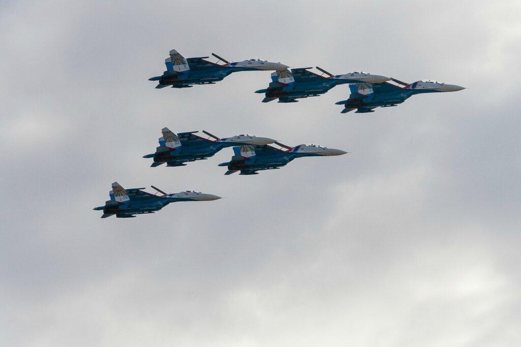 """Пилотажная группа """"Русские витязи"""" ВВС РФ"""