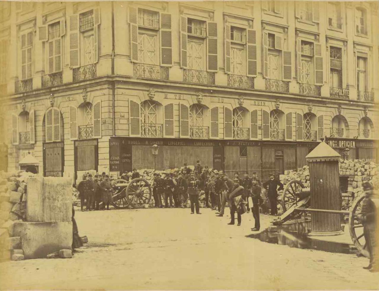 20. Баррикады на улице Кастильоне