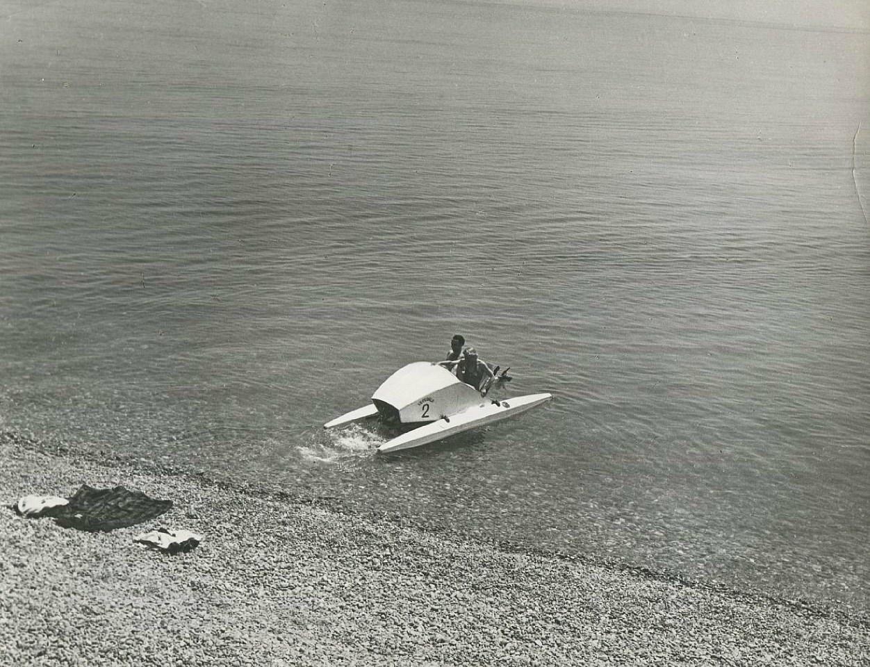 Пикап на пляже при помощи катамарана. Часть 3